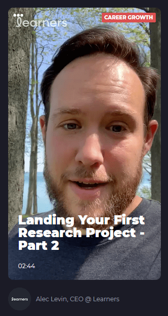 Landing Your First Research Project - Part 2