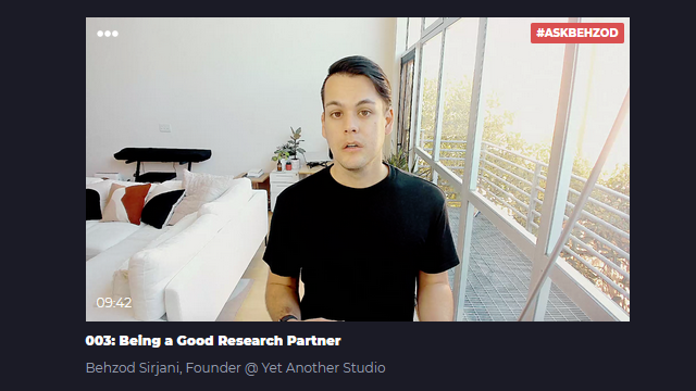 Learners talk: 003: Being a Good UX Research Partner