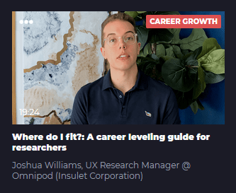 Where do I fit?: A career leveling guide for researchers