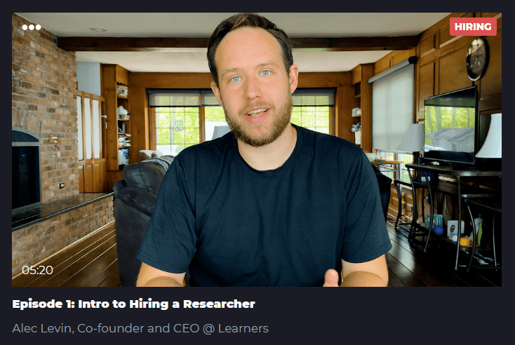 Episode 1: Intro to Hiring a Researcher