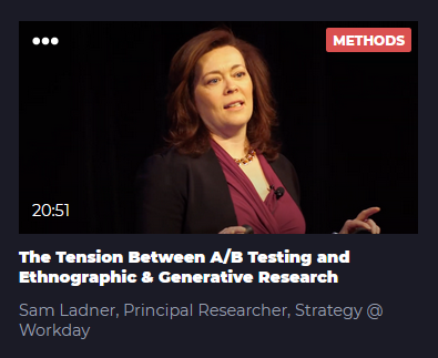 The Tension Between A/B Testing and Ethnographic & Generative Research
